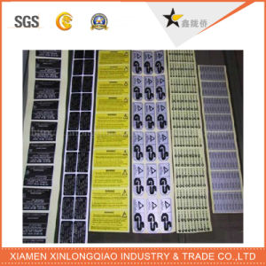 Label Printing Transparent Plastic PVC Glass Adhesive Paper Barcode Sticker pictures & photos