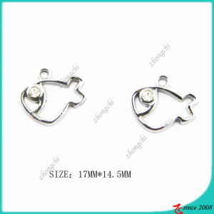 Metal Silver Hollow Fish Charm pictures & photos