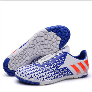 Sports Outdoor Soccer Shoes with TPU Sole for Children (AK669-2H) pictures & photos