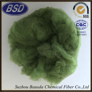 Recycled Cotton Fabrics Use Polyester Staple Fiber PSF pictures & photos
