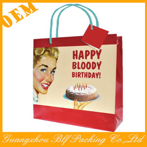 White Kraft Paper Cmyk Color Printing Custom Printed Kraft Paper Bag (BLF-PB345) pictures & photos