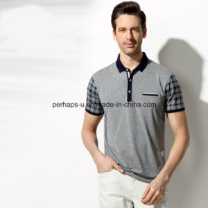 High Quality Skinny Check Sleeve Men Polo Shirt Sports Wear pictures & photos