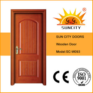 Front Safety Single Solid Oak Wooden Door for Home (SC-W093) pictures & photos
