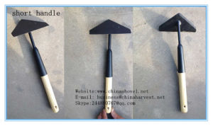 Steel Hoe Triangle Warren Hoe with Wooden Handle Garden Hoe pictures & photos