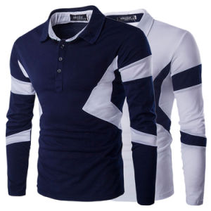 Autumn Striped Polo Shirt Long Sleeve Men (A412)