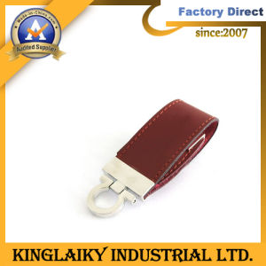 Customized Promotional Gift USB Drive with Leather (KU-008U) pictures & photos
