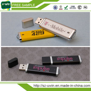 High Quality Plastic USB Flash Drive with Logo Printed pictures & photos