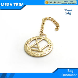 Gold Metal Engrave Long Chain Metal Accessories for Handbags Ornament pictures & photos