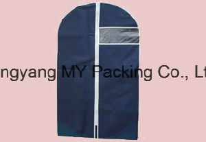 Handled Men Zippered Suit Cover Garment Bag with Transparent Window pictures & photos