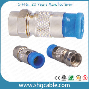 F Compression Connector for RF Coaxial Cable Rg59 RG6 Rg11 (F036) pictures & photos