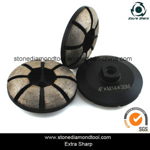 4 Inch 15mm Segment Diamond Concrete Grinding Wheel pictures & photos