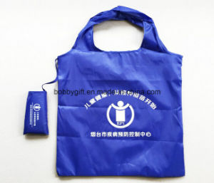 Promotion Folded Polyester Hand Shopping Bag pictures & photos
