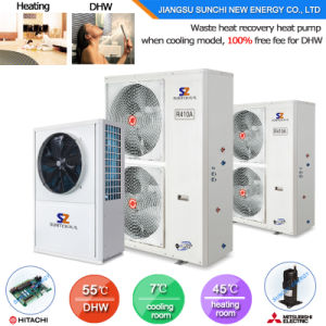 Germany Type Best Efficiency Save 70% Power Home 60deg. C Sanitary Water 3.5kw 150L, 200L, 260L All in One Heat Pump Cylinder pictures & photos