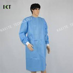 Non-Woven Sterile Disposable Surgical Gown with Knitted Cuff pictures & photos