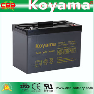 DC100-12 12V 100ah Deep Cycle AGM Battery for Wind Power pictures & photos