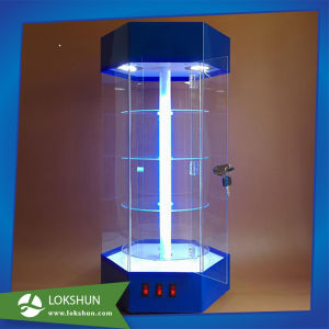 Hexagon Acrylic LED Display Case Rotating Cabinet Shelf pictures & photos