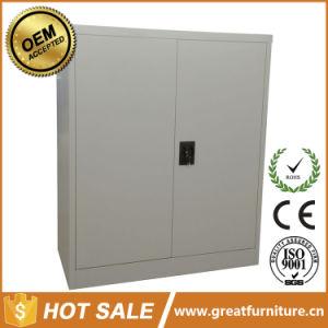 Metal 2 Shelf Glass Door File Cabinet/ 3 Tier Short Glass Door File Cupboard pictures & photos
