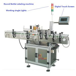 Automatic Round Bottle Labeling Machine Torl-630A pictures & photos