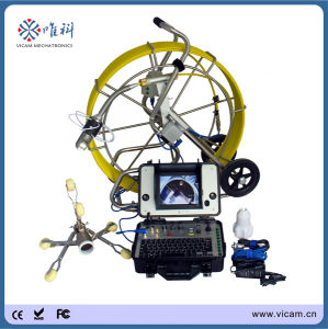 Pan Tilt 60m/120m Fiberglass Push Rod Waterproof Video Drain Pipe Inspection Camera pictures & photos