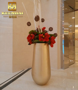 Indoor Stainless Steel Tall Decoration Flower Vase, Plant Pots pictures & photos