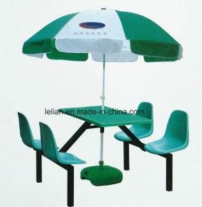 School Canteen Dining Fiberglass Table and Chair Set (LL-WST005) pictures & photos