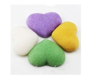100% Natural Bamboo Charcoal Heart Natural Konjac Sponge with Factory Price pictures & photos