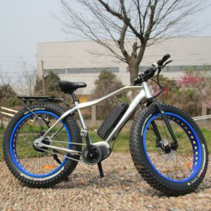 26*4.0 Inch Fat Tire MID Drive Electric Bicycle pictures & photos