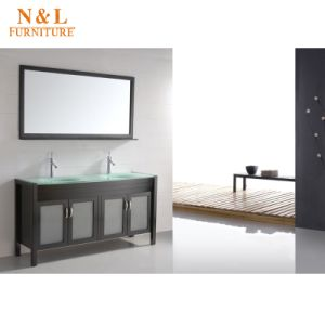 2017 Most Popular White Gloss Bathroom Vanity pictures & photos