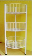 3-Tier Round Basket Rack (WB-F-001)