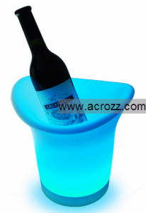 Plastic Table Ice Bucket LED Pot Wine Bucket pictures & photos