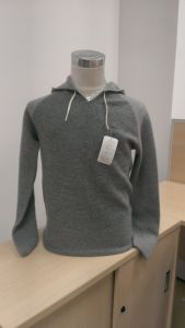 Men′s Cashmere Jumper Sweater with Hoodie (1516-016)