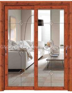 Aluminium Double Doors Sliding Door Track pictures & photos