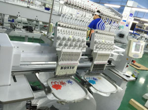 Commercial 2 Head Embroidery Machine Dahao Embroidery Machine for Hats and T-Shirt pictures & photos