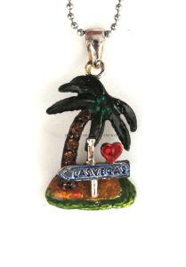 Fashion Rhinestone Alloy Coconut Tree Pendant Necklace (1105150)