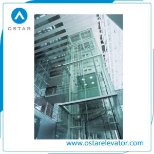 Beautiful 1000kg Observation Lift with Square Glass Passenger Elevator Cabin pictures & photos