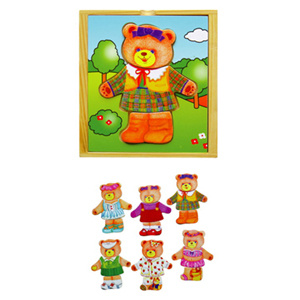 Wooden Dress up Bear (6 designs) pictures & photos
