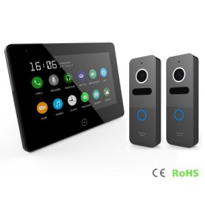 Touch Screen 7 Inches Home Security Interphone Video Door Phone with Memory pictures & photos