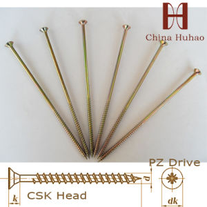 Screw/C1022 Zinc Coated Csk Headr Chipboard Screw pictures & photos