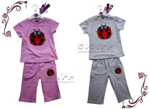 Girl′s Pajama Set (S10141)