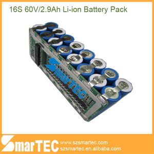 16s 60V Lithium Ion Battery 18650 2900mAh for One Wheel Electric Scooter