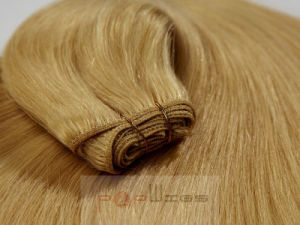 Top Selling Blond Human Hair Full Machine Made Hair Weaving pictures & photos