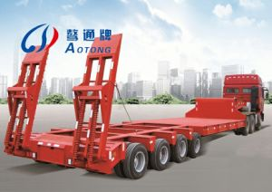 4 Lines 8 Axles Low Bed Semi Truck Trailer (LAT9404TDP) pictures & photos
