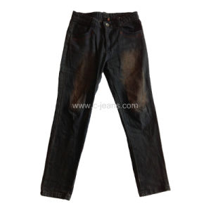Men′s Classical Jeans Enzyme Wash Denim Jeans