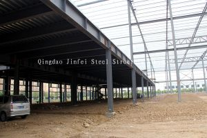 Large Steel Frame Metal Workshops with Mezzanine