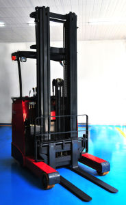 1.0 Ton High Quality Stand on Electric Reach Forklift Truck
