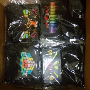 EL LED Flashing Light up and Down Equalizer Shirt pictures & photos