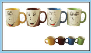 9oz Porcelain Three Color Coffee Mugs (CM612059) pictures & photos