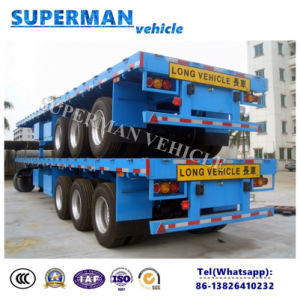 3 Axle Cargo Transport Flatbed Truck Trailer Hot Sales pictures & photos