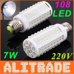 Ultra Bright 7W E27 LED Lamp with 108 LED 360 Degree Spot Light (OT-206)