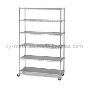 6 Tiers Chrome Plated Metal Wire Shelving pictures & photos